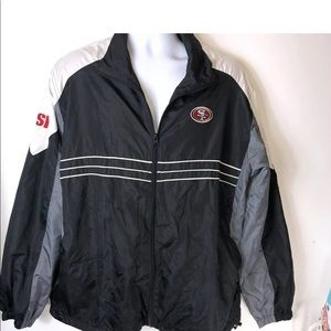 49ers Jacket Dunbrooke XL Windbreaker black grey